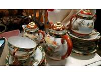 Hand painted Antique China Tea and plates Set