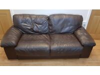 Leather sofas 2 x 3 seater