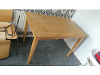 solid pine table and 4 ikea chair's grab a bargain