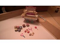 SYLVANIAN FAMILIES ~ Village sweet shop cart with ACCESSORIES - CAN POST