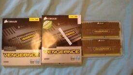 16GB (2 packs of 2 x 4GB) Corsair Vengeance DDR3 1600 Mhz RAM- CMZ8GX3M2A1600C9