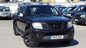 NISSAN NAVARA DCI TEKNA 4X4 SHR DCB 18000 MILES AND NO VAT BLACK STYLING A REAL EYEFUL 2013