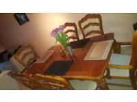 Beautiful Antique dining table set and chairs