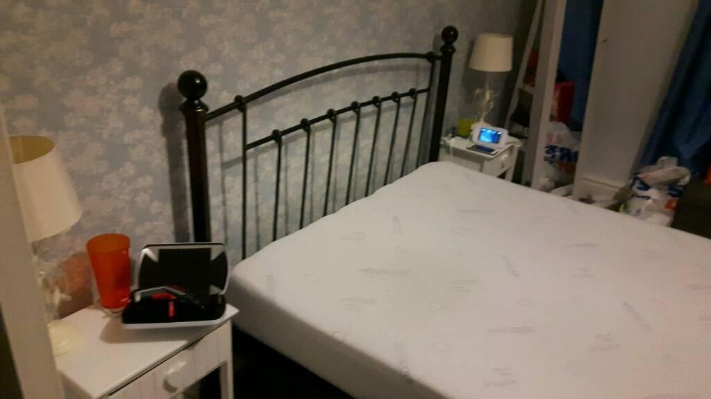 Metal Double Bed Memory Foam Mattress Solid In Sunderland Tyne