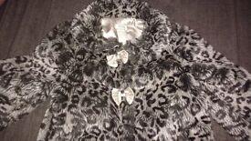 Monsoon Girls Fur Coat 4 - 5 years old Winter Jacket