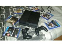Ps4,6 games, 2 controllers