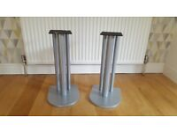 Atacama speaker stands, silver, great condition.