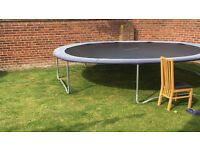 15ft Trampoline. Good condition and stored inside during Autumn/Winter.