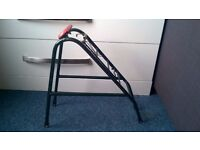 Bike rack with red reflector