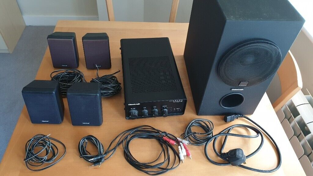Videologic Sirocco Crossfire 4 1 speaker system | in Worthing, West Sussex  | Gumtree