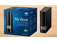 WD My Book Desktop External Portable Hard Drive 4TB New