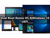 DUAL BOOT WIN 10 + ANDROID,MSI U130 LAPTOP,2GB RAM,160GB HDD,KODI,MOBDRO,KODI