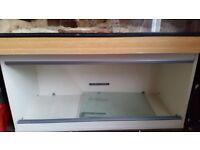 2 x 3ft white vivariums for sale
