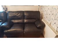 Black 2 seater sofa good condition