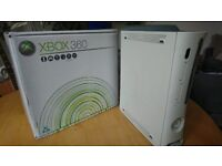 XBOX 360 60gb edition, boxed with 59 classic games
