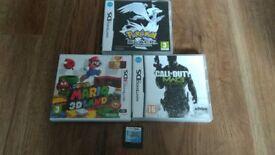 4 x 3DS & DS Games inc Mario 3D Land & Pokemon Black Edition