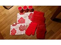 Bundle of Red Kitchen Items