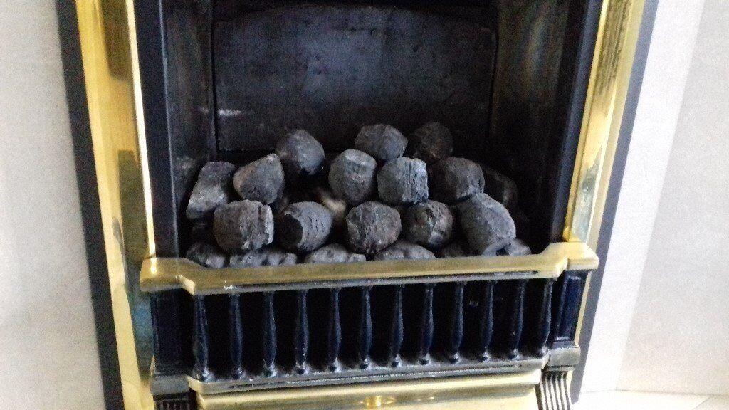 Set of gas fire coals . unused still in box .