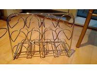 Wine rack 12 btl chrome effect