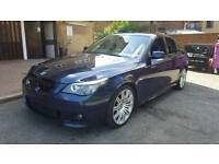 BMW 5 Series 2007 (57) Blue 3.0L 525d M Sport Automatic LCI Facelift, Fully Loaded, HPI Clear