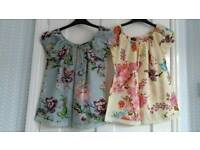 2 Size 8 Smock Tops