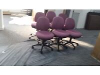 2 Dusky Pink Boardroom/Meeting/Conference/Office chair £40 each