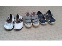 Girls size three shoes