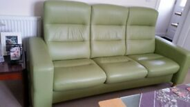 Stressless 3 seater leather settee
