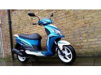 Sym jet 4 125 , 2016 still under warranty!!! legel learner scooter 125cc moped honda licence brand