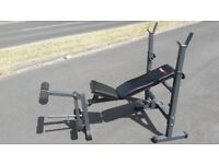 BODYMAX CF342 FOLDABLE WEIGHTS BENCH WITH LEG CURL - Incline - Decline Flat