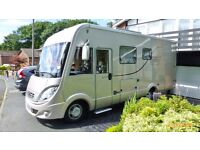 Hymer Motorhome B590 Starline. First Registered March 2014