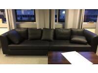 Faux-leather sofa