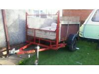 7x4ft trailer with drop down ramp