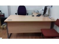Office desk and swell chair