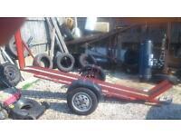 motorcycle trailer in good working. order. £100.00 ons