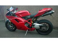 For sale my Ducati 1098, low mileage, terminoni exhaust system, full carbon fibre extras, new tyres