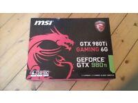 MSI GTX 980 Ti 6G 6 GB Gaming Graphics Card
