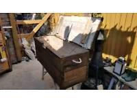 Reclaim scaff storage box/bench.