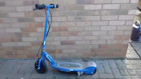 Razor Electric Scooter with detachable seat. Ride sitting or standing. Blue. Age 10+.