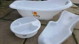 Mama and papas baby bath set tub