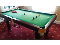 Slate bed 6 foot pool table