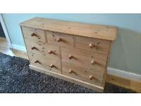 Solid, Waxed Pine Chest of Drawers