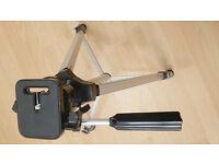 Helios Pan/Tilt Head Aluminium Camera Tripod - £10