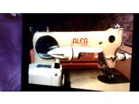 alfa de luxe electric vintage sewing machine