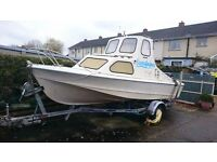 Fishing boat, Shetland 535, Suzuki 50HP 4 stroke, Galvanized Braked trailer, Full Nav equipment