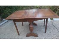 Dark wood gate leg table