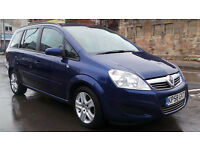2008 58 VAUXHALL ZAFIRA EXCLUSIVE 1.9 CDTI DIESEL 7 SEATER MPV( CHEAPER PART EX WELCOME)