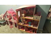 1 x Barbie 1 x other dolls houses plus accessories - 10 yr old has outgrown them - free collection