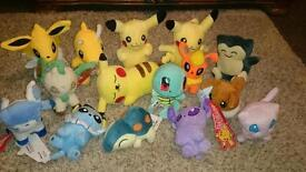 new pokemon soft plush toys eevee dragonite espeon glaceon vapoureon etc...