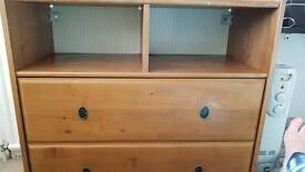 Ikea real wood chest of drawers (used)